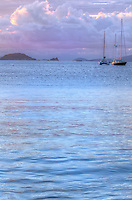 Dusk looking out towards Carvel Rock<br />