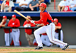 7 March 2012: Washington Nationals infielder Mark Teahen in action against the St. Louis Cardinals at Space Coast Stadium in Viera, Florida. The teams battled to a 3-3 tie in Grapefruit League Spring Training action. Mandatory Credit: Ed Wolfstein Photo