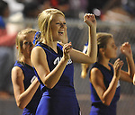 Water Valley cheerleaders vs. Charleston in Water Valley, Miss.  on Friday, September 16, 2011.