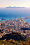 View of Trapani from  Érice, Erice, Sicily stock photos.