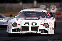 LE MANS, FRANCE: The Chevrolet Camaro of Tom Williams, Dick Brooks and Hershel McGriff being driven during the 24 Hours of Le Mans on June 20, 1982, at Circuit de la Sarthe in Le Mans, France.