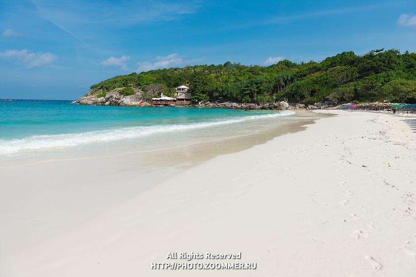 Amazing white sand beach in Patok bay of Raya island, Thailand