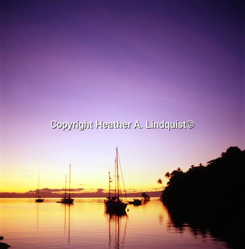 Vanua Levu, Savu Savu Harbour at Sunset