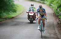 Rob Ruijgh (NLD) trying to cross over to the race leader on his own<br /> <br /> 2013 Ster ZLM Tour <br /> stage 4: Verviers - La Gileppe (186km)