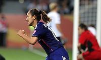 Wolfsburg , 100711 , FIFA / Frauen Weltmeisterschaft 2011 / Womens Worldcup 2011 , Viertelfinale ,  Deutschland (GER) - Japan (JPN) .Torjubel Karina Maruyama (JPN) nach dem 1:0 für Japan .Foto:Karina Hessland .