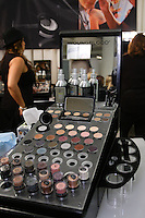 Youngblood Mineral cosmetic display at the Makeup Show NYC, May 15 2011.