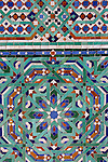North Africa, Morocco, Casablanca. Mosaic detail of the Hassan II Mosque.