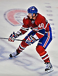 21 September 2009: Montreal Canadiens' center Maxim Lapierre in action during a pre-season game against the Pittsburgh Penguins at the Bell Centre in Montreal, Quebec, Canada. The Canadiens edged out the defending Stanley Cup Champions 4-3. Mandatory Credit: Ed Wolfstein Photo