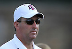 09 September 2011: Texas A&M head coach G Guerrieri. The Duke University Blue Devils defeated the Texas A&M Aggies 7-2 at Koskinen Stadium in Durham, North Carolina in an NCAA Division I Women's Soccer game.