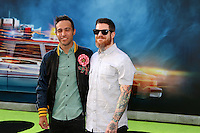 HOLLYWOOD, CA - JULY 9: Pete Wentz, Andy Hurley at the premiere of Sony Pictures' 'Ghostbusters' held at TCL Chinese Theater on July 9, 2016 in Hollywood, California. Credit: David Edwards/MediaPunch