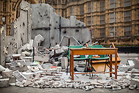03.02.2016 - Syrian 'Destroyed Classroom' Outside the Houses of Parliament