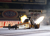 Sep 2, 2016; Clermont, IN, USA; NHRA top fuel driver Tony Schumacher during qualifying for the US Nationals at Lucas Oil Raceway. Mandatory Credit: Mark J. Rebilas-USA TODAY Sports