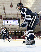 Katie Brock (UNH - 5) - The Boston College Eagles and the visiting University of New Hampshire Wildcats played to a scoreless tie in BC's senior game on Saturday, February 19, 2011, at Conte Forum in Chestnut Hill, Massachusetts.