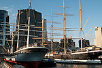 The tall ships Wavertree and Peking are the centerpieces of the collection at the South Street Seaport Museum in New York.