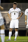 17 October 2014: Notre Dame's Nick Besler. The Duke University Blue Devils hosted the Notre Dame University Fighting Irish at Koskinen Stadium in Durham, North Carolina in a 2014 NCAA Division I Men's Soccer match. Notre Dame won the game 4-1.