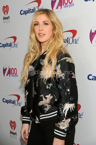 NEW YORK, NY - DECEMBER 9 : Ellie Goulding at the Z100 Jingle Ball 2016 at Madison Square Garden in New York City on December 9, 2016. Credit: John Palmer/MediaPunch