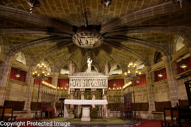 The Crypt of the Cathedral Church of Barcelona, Catalonia, Spain