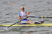 Brandenburg, GERMANY,  GBR BW1X, Kristina STILLER, moves away from the start at the 2008 FISA U23 World Rowing Championships, {idow], {date}, [Mandatory credit: Peter Spurrier Intersport Images].. Rowing Course: Brandenburg, Havel Rowing Course, Brandenburg, GERMANY
