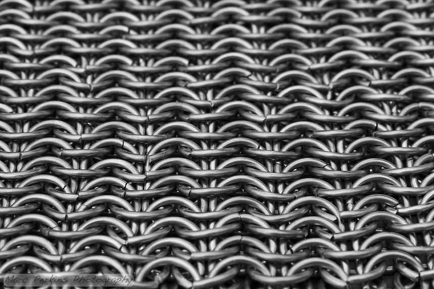 Looking straight down the sheet of chain mail is just enthralling.  I love the lines!  This is a European 6-in-1 pattern.