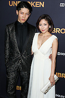 HOLLYWOOD, LOS ANGELES, CA, USA - DECEMBER 15: Miyavi, Takamasa Ishihara, Melody Ishihara arrives at the Los Angeles Premiere Of Universal Pictures' 'Unbroken' held at the Dolby Theatre on December 15, 2014 in Hollywood, Los Angeles, California, United States. (Photo by Xavier Collin/Celebrity Monitor)