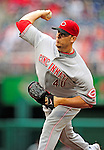 6 June 2010: Cincinnati Reds' pitcher Nick Masset on the mound against the Washington Nationals at Nationals Park in Washington, DC. The Reds edged out the Nationals 5-4 in a ten inning game. Mandatory Credit: Ed Wolfstein Photo