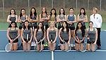 4-29-15, Huron High School girl's varsity tennis team