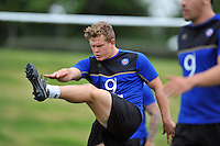 Tom Woolstencroft of Bath Rugby warms-up. Bath Rugby training session on August 4, 2015 at Farleigh House in Bath, England. Photo by: Patrick Khachfe / Onside Images