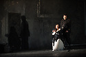 London, UK. 09.09.2014. The new English National Opera season begins with OTELLO, with music by Giuseppe Verdi and written by Arrigo Boito, after William Shakespeare. Directed by David Alden and conducted by Edward Gardner, OBE. Picture shows: Stuart Skelton (Otello) and Leah Crocetto (Desdemona). Photograph © Jane Hobson.