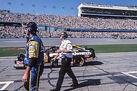 Dale Earnhardt rolls off pit road for the start of his final Daytona 500, Daytona 500, Daytona International Speedway, Daytona Beach, FL, February 18, 2001.  (Photo by Brian Cleary/ www.bcpix.com )