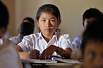 Sum Thida, 12, studies in a school in Soepreng, a village in the Kampot region of Cambodia.