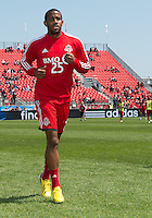 April 27, 2013: Toronto FC defender Jeremy Hall #25 in action during the warm-up in a game between Toronto FC and the New York Red Bulls at BMO Field  in Toronto, Ontario Canada..The New York Red Bulls won 2-1.