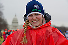Jan. 25, 2013; Notre Dame student at the  2013 March for Life in Washington, D.C. Photo by Barbara Johnston/University of Notre Dame