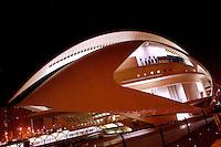 The Palau de les Arts (The Arts Palace) ; last element of the City of Arts and Sciences, 2004, Santiago Calatrava, Valencia, Communitat Valenciana, Spain Picture by Manuel Cohen
