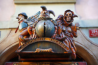 Puppet Theatre sign - Prague - Czech Republic