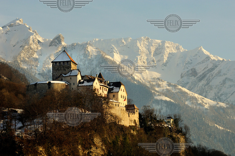 Vaduz Castle Residence Of The Royal Family Of