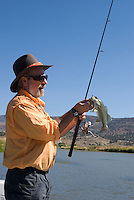 Fishing scenes on the John Day River near Fossil, Oregon for Smallmouth Bass with guide Steve Fleming.