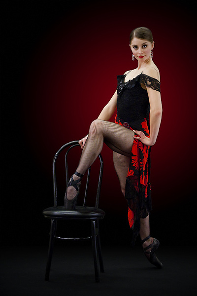 Alex Christian poses for a promotion shoot for Nevada Ballet Theatre.