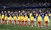 USA line-up for the National Anthem. USA defeated Spain 2-0 during the semi-finals of the FIFA Confederations Cup at Free State Stadium in Manguang/Bloemfontein, South Africa on June 24, 2009..