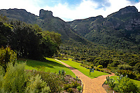 Kirstenbosch National Botanical Garden at the foot of Table Mountain in Cape Town, South Africa.