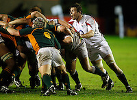 Photo: Richard Lane/Richard Lane Photography. England U20 v South Africa U20. Semi Final. 18/06/2008. England's Jon Fisher looks up from a scrum.