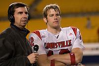 25 November 2006: Louisville Cardinals quarterback Brian Brohm (12)..The Louisville Cardinals defeated the Pitt Panthers 48-24 on November 25, 2006 at Heinz Field, Pittsburgh, Pennsylvania.