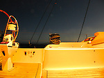 Vision by night of the Swan 82 Ipixuna anchoring at the Ribbon Reef No 3 on the Great Barrier Reef, Australia.
