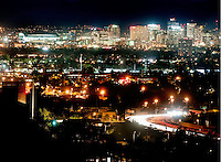 Phoenix, Arizona is the 6th most populous city in the country with almost 1.5 million in the city and more than four million in the metropolitan area. The capital of Arizona, the city is located in the Valley of the Sun, a popular destination for winter vistors in North America. Major League Baseball's Arizona Diamondback's Chase Field is visible on far left.