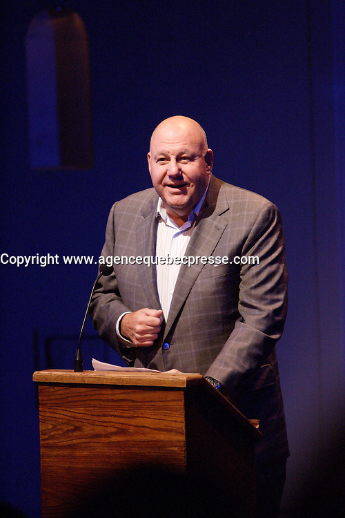 Montreal (Qc) CANADA - September 2011 File Photo -Jean-Pierre Desrosiers, Chairperson of the Centaur Theatre gala 2011