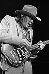 Stevie Ray Vaughan,10/11/85, Greek Theater, Berkeley, CA. 82-22-17. American guitarist, singer, and songwriter. Eighteen albums of Vaughan's work have been released.<br /> <br /> On February 22, 2000, Vaughan was inducted into the Blues Hall of Fame in Washington, D.C., one of only 79 performers to be so honored. He also won several W. C. Handy Awards, during his lifetime and posthumously, including Entertainer of the Year and Instrumentalist of the Year in 1984. In 2003, he was ranked #7 in Rolling Stone's list of the 100 Greatest Guitarists of All Time.[