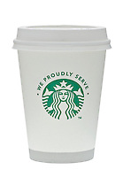 Cup of Starbucks Coffee showing new logo - Oct 2011