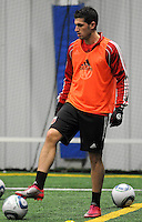 DC United midfielder Santino Quaranta (25)  at the first official training session of the 2011 MLS season.  At Greenbelt Sportsplex, Friday January 28, 2011.