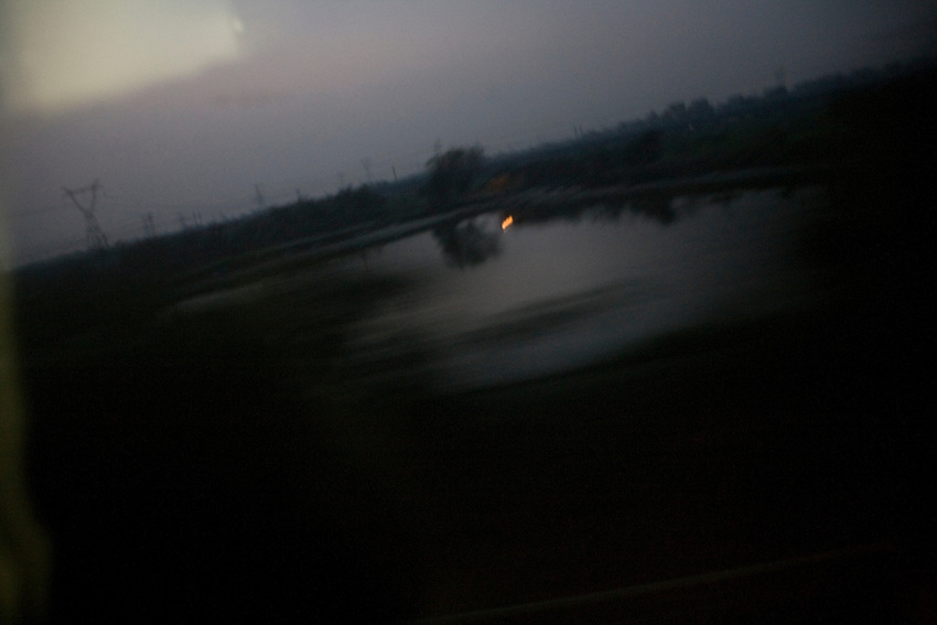 Near Chenzhou, seen from the window of the train from Guangzhou to Beijing.