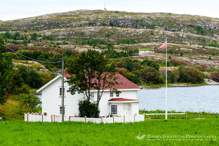 Norway, Linesøya. House from the old Cemetery.