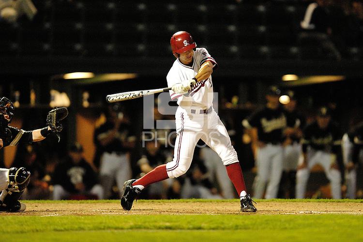 STANFORD, CA - FEBRUARY 17, 2012:  Stanford Baseball faces off against Vanderbilt University on February 17, 2012 at Sunken Diamond.  Stanford won, 8-3.